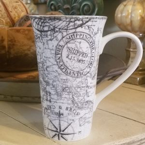 222 Fifth Tall Latte Mug, Due North Grey